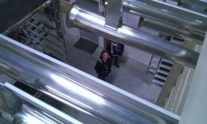 Werkstatt Weimbs 2013 Blick aus 6 m Höhe durch die Tuba Petri