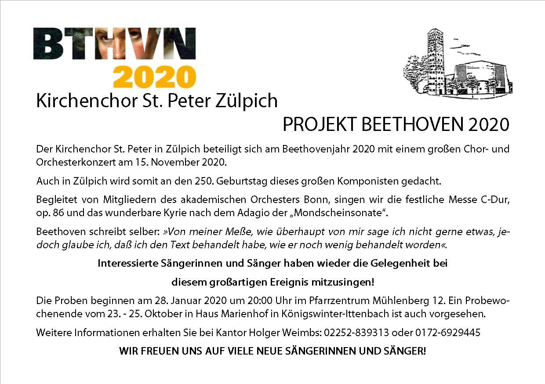 Beethoven Projektsänger-innen